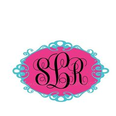 Monogrammed Bat Mitzvah Logo - Monogram Personalized Initials Name by Cutie Patootie Creations - CutiePatootieCreations.com! #batmitzvahlogo