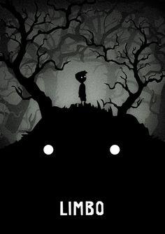 Limbo Poster - Created by Dawid Galiński Video Game Posters, Video Game Art, Limbo Game, Limbo Video Game, Star Wars Wallpaper Iphone, Indie Games, Fantastic Art, Horror Art, Game Design