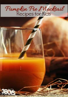 This Pumpkin Pie Mocktail Recipe is the perfect mocktail for a fall get together or holiday party. Add some rum to make it an adult drink. Mocktails For Kids, Sparkling Drinks, Cocktails, Family Friendly Holidays, Holiday Drinks, Party Drinks, Thanksgiving Pies, Non Alcoholic Drinks, Beverages