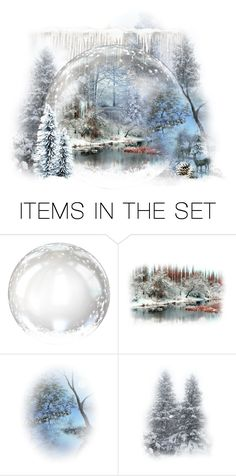 """Snow is falling!"" by schneerose ❤ liked on Polyvore featuring art"