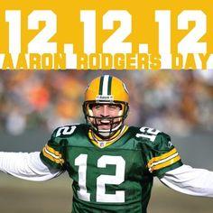 HAPPY AARON RODGERS DAY! 12/12/12