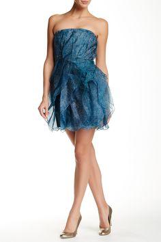 Halston Heritage | Strapless Ruffled Silk Cocktail Dress | Nordstrom Rack  Sponsored by Nordstrom Rack.