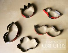 DIY: Cookie cutters out of soda cans - cute!