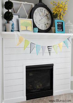 Planked Fireplace Tutorial { lilluna.com }