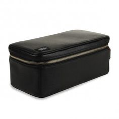 Zippertop dopp leather (black)