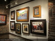 Inside the Old Town Gallery, a combination of colors and fine art