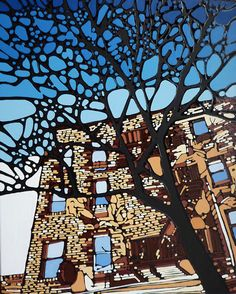 #Denitza paintings from AAF New York  #art #trees