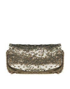 Antik Batik gold leather bag