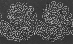 More soutache patterns to use as quilting pattern inspirations Border Embroidery Designs, Embroidery Transfers, Ribbon Embroidery, Quilting Designs, Cross Stitch Embroidery, Embroidery Patterns, Quilt Patterns, Machine Embroidery, Stitch Patterns