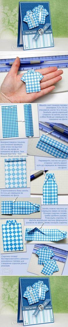 Origami shirt - folding instructions