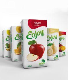 Enjoy Rebranding & Juice Packaging on Behance
