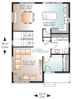 Zen / Contemporain   W3710   Maison Laprise - Maisons pré-usinées