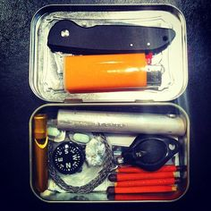 How to Build Your Own Altoids Tin Survival Kit | Man Made DIY | Crafts for Men | Keywords: safety, DIY, survival, camping
