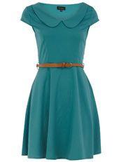Green peter pan collar dress, £32