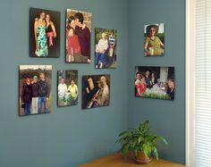 photo wall - awesome fix for a bare corner!
