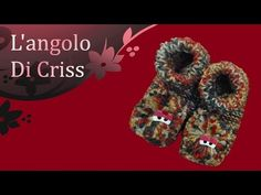 """Babbucce a telaio """"Monterslippers"""" - tutorial passo a passo - YouTube"""
