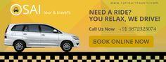 Enjoy a comfort ride with Sai Tour & Travels #Chandigarh #Mohali #Panchkula #Taxiservice