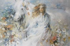 Willem Haenraets Mystical Woman With Horse Garden Limited Edition 260 of 350