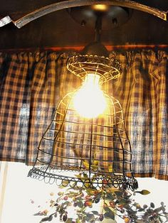 Wire Basket Light Fixture