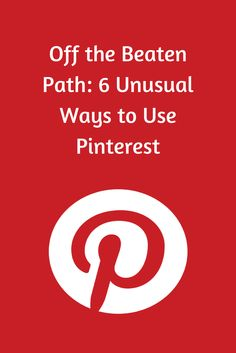 Did you know that Pinterest is also a great way to organize music? How about using Pinterest to find your lost pet, or report from a war zone? Take a look at a few unconventional ways people are using Pinterest. http://blog.hootsuite.com/6-unusual-ways-to-use-pinterest/