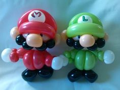 MARIO BROS Y LUIGI.- HOW TO MAKE LUIGI AND MARIO BROS BALLOON.