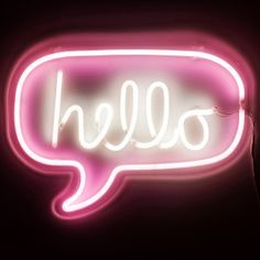 Neon Pink Typographic Hello Light by I Love Retro, the perfect gift for Explore more unique gifts in our curated marketplace. What Should I Draw, Hello Sign, Open Signs, All Of The Lights, Retro Color, Pink Walls, Neon Lighting, Cool Wallpaper, Decorative Accessories