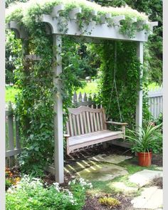 I need to make an arbor over my garden bench!
