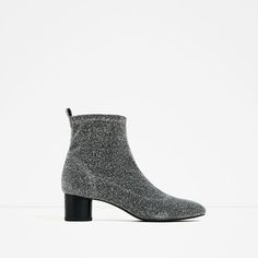 Image 2 of SHINY SOCK ANKLE BOOTS from Zara