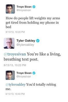 troye sivan and Tyler Oakley twitter :)