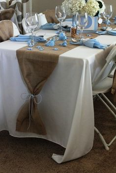 First Communion table decor.