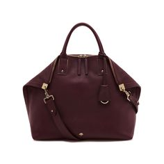 Mulberry - Alice Zipped Tote in Oxblood Small Classic Grain