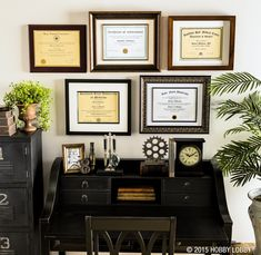 Celebrate your accomplishments by framing your diploma for display.