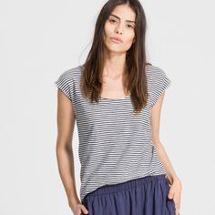 Armedangels - Carlotta T-Shirt Streifen, 100% Baumwolle (bio), Loose Cut, Fairtrade, GOTS - sustainable materials and fair production