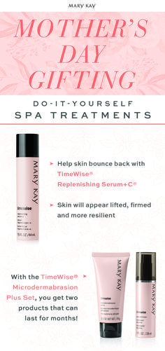 Spa treatments are even better when you DIY. Treat mom on Mother's Day with indulgent gifts that will pamper her skin for months to come! | Mary Kay