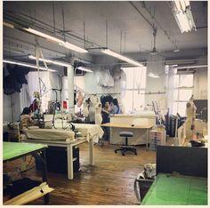 The #zacposen #atelier today. #madeinamerica #nyc @CFDA