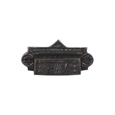 This dark bronze finish cast brass cabinet/drawer cup pull with eastlake design is part of the Drawer Pulls Collection from Brass Elegans. Capturing the beauty of all things antique, this bin pull is perfect for restoration projects, vintage furniture, drawers & cabinets.