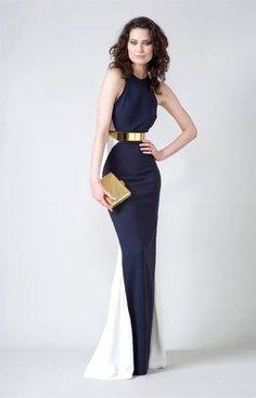 royal blue and gold.... love! When i need to dress for the sabres red carpet events :p