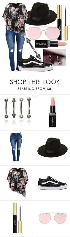 """""""Margaret"""" by the-mad-hattess on Polyvore featuring Smashbox, Lack of Color, M&Co, Vans, Yves Saint Laurent and LMNT"""