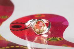 Intimate & Artisan Design R Emerald Pendant, Moonstone Pendant, Citrine Ring, Citrine Gemstone, 925 Silver, Silver Jewelry, Sterling Silver, Anniversary Jewelry, Love Ring