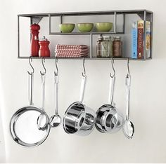 Key Kitchen, Kitchen Redo, Kitchen Items, Kitchen Storage, Wall Shelves, Shelving, Shelf, Pot Racks, Clutter Control