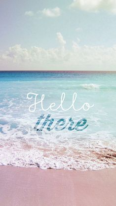 Hello There Summer Wave Beach #iPhone #5s #wallpaper