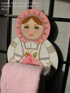 Cloth or towel holder matryoshka:SOPHIE MATRIOCHKAS SPREE