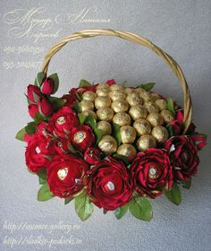 Gallery.ru / Фото #64 - Корзины с цветами и конфетами 400-1000 грн. - monier