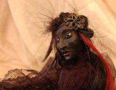 Empress of the Night OOAK Art Doll  etsy.com