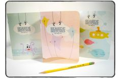 great idea for girls to create their own sketch books and have something to doodle in for the week