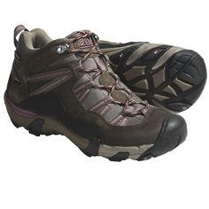 Keen Red Rock Mid Hiking Boots - Waterproof (For Women) in Shitake/Grape Nectar