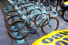 Bianchi produced this custom Infinito CV for LottoNL-Jumbo's Classics star Sep Vanmarcke for the Tour of Flanders and Paris-Roubaix. The custom paint job is quite subtle when viewed next to a rack of team bikes, but on closer inspection, the brushed metal finish is pretty eye-catching.