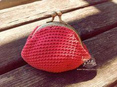 Monedero vintage a crochet cierre metálico