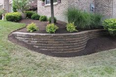 Crazy Front Yard Retaining Wall Landscaping 50 + Crazy Front Yard Stützmauer Landschaftsbau www. Diy Retaining Wall, Landscaping Retaining Walls, Hillside Landscaping, Outdoor Landscaping, Front Yard Landscaping, Backyard Landscaping, Outdoor Gardens, Retaining Wall Design, Retaining Wall Gardens