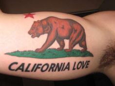 California Bear tattoo Rate of pictures of tattoos, submit your own tattoo picture or just rate others Future Tattoos, Love Tattoos, Body Art Tattoos, Tribal Tattoos, Tattoos For Guys, Indian Tattoos, California Bear Tattoos, Cali Tattoo, California Love